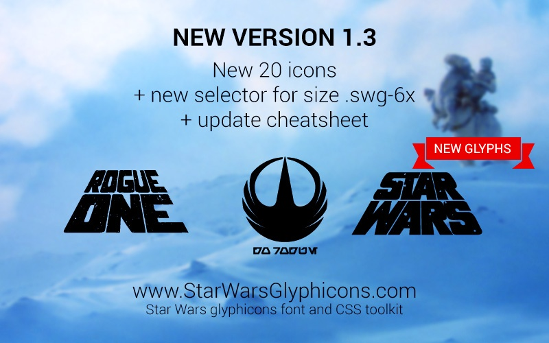 Фэндом: Блог им. admin: Новая версия Star Wars GlyphIcons 1.3