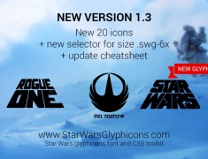 Новая версия Star Wars GlyphIcons 1.3